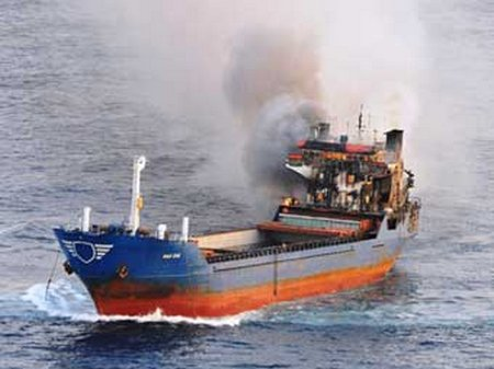 AFM Reefer ship fire